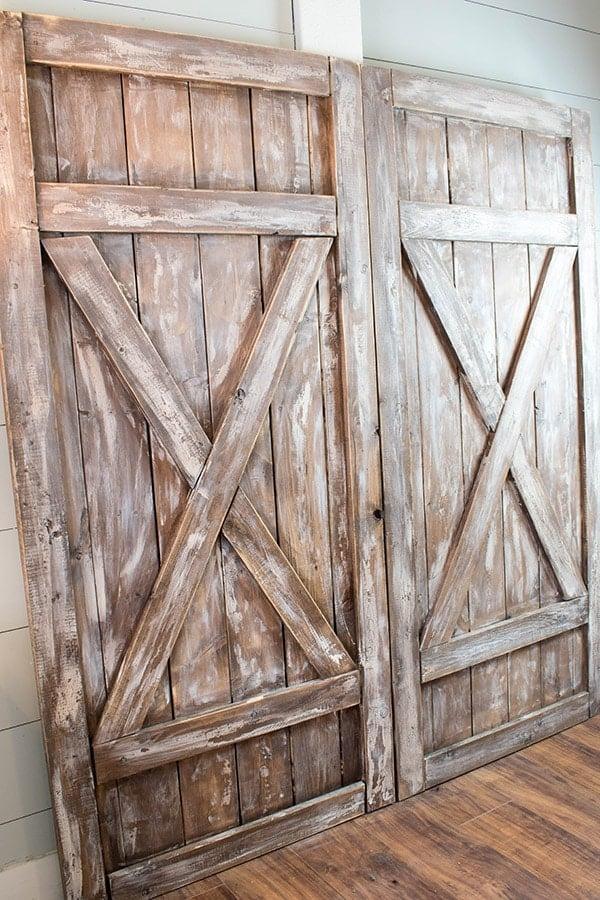 Finished Barn Door Headboard