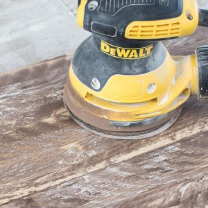 Creating a Rustic Look with a Sander over Stained & Painted Wood