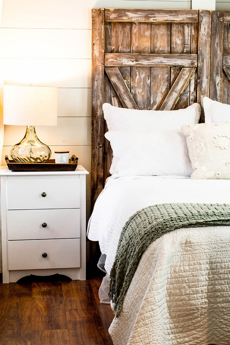 Build An Easy Barn Door Headboard For Only 50 00