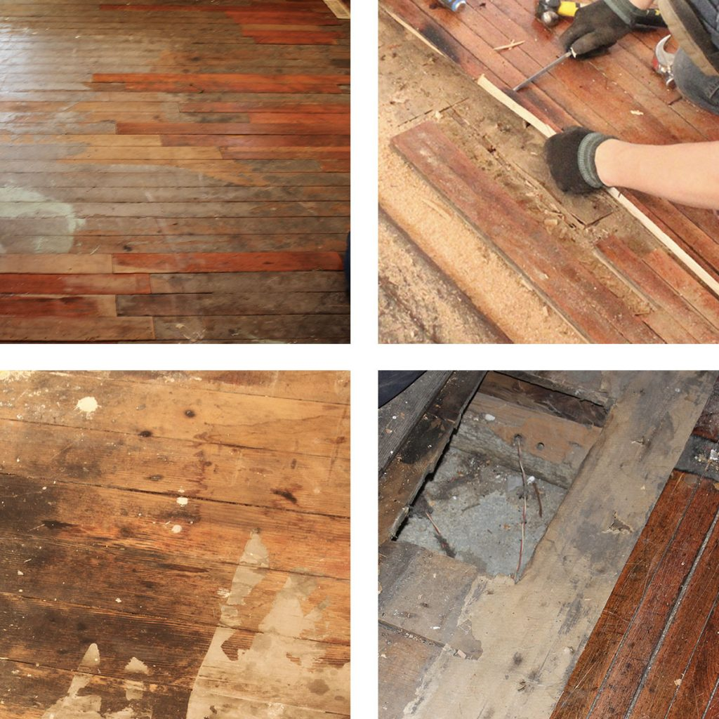 4 Examples of Damaged Floors Prior to Restoration