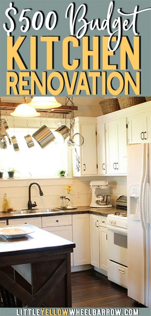 If your kitchen is in desperate need of a renovation, you might be able to turn it around for much less than you think. We spent only $500 on the worst kitchen we had ever seen and created a space that was bright, cherry and livable.