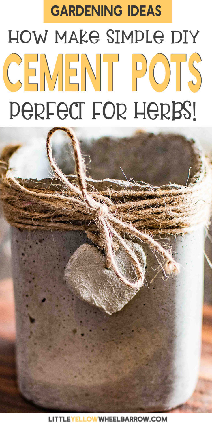 Cute little concrete pots for all your herbs or small plants. A very easy DIY tutorial that doesn't break the bank. Raid your recycling bin because the molds for these are free.