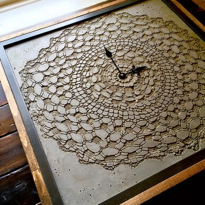 This is a Fun and Unique DIY Concrete Clock Made with Shapecrete