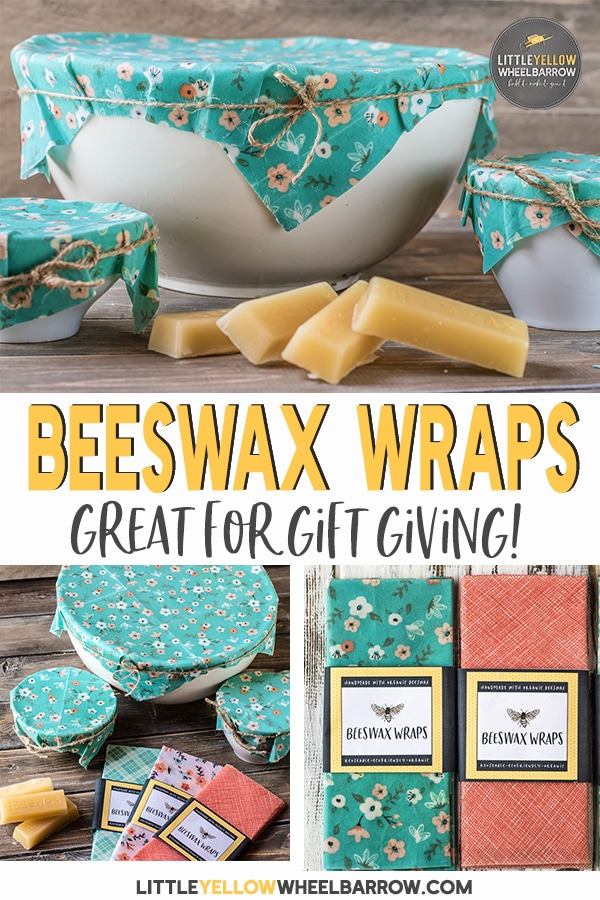 These beeswax wraps take no time at all to create and make a great alternative to plastic wrap. No fancy or hard to find ingredients, just these two simple items and you're ready to make your own. These make great gifts and we've included a free beeswax wrap package label for download. No resin required!