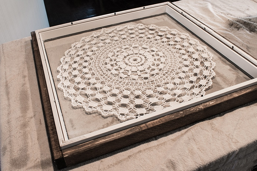Ribba Picture Frame used as a Concrete Clock Mold