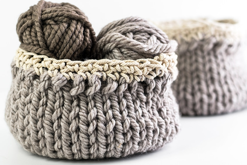 Free Diy Basket Pattern You Can Knit Up In A Flash