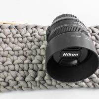 Easy Crochet Camera Lens Protectors that are Padded and Dust Free.