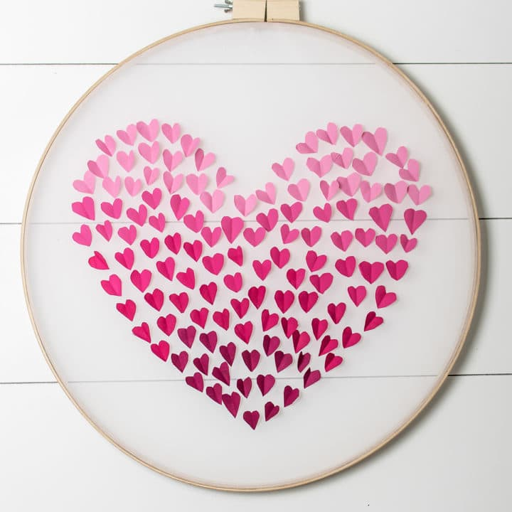 Ombre Heart Wall Hanging for Valentine's Day