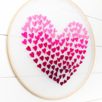 DIY Embroidery Hoop Wall Hanging for Valentine's Day