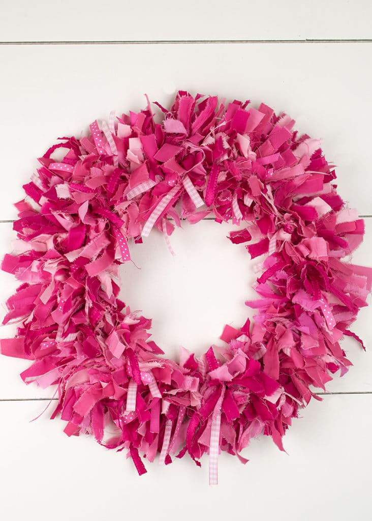 How To Make A Rag Wreath For Valentine S Day