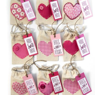 Valentine's Day Treat Bags with Free Printable Labels