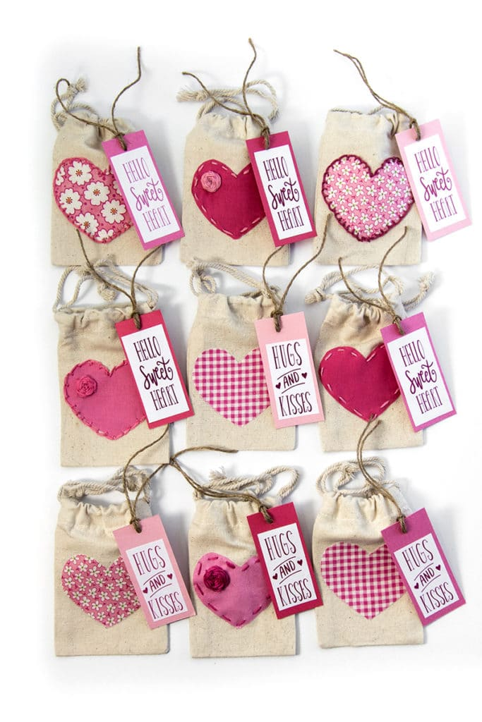 graphic about Printable Fabric Labels named Valentines Working day Address Luggage with No cost Printable Labels