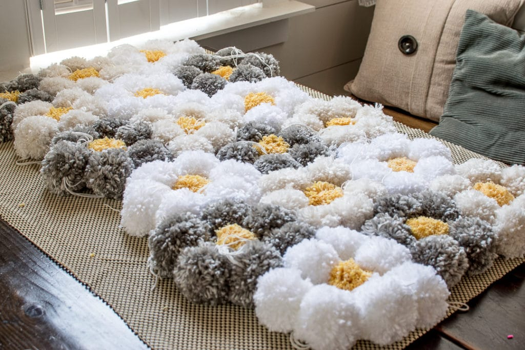 How To Make A Pom Pom Rug The Easy Way It S So Fluffy