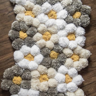 How to Make a Pom Pom Rug the Easy Way – It's SO Fluffy!