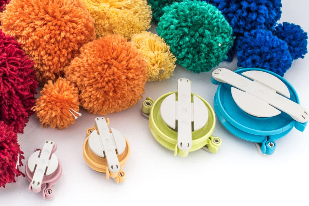 Yarn Pom Poms and Pick the Right Size Yarn