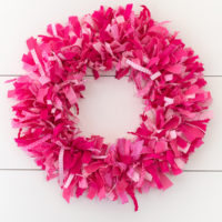 How to Make a Rag Wreath - Super Fluffy!