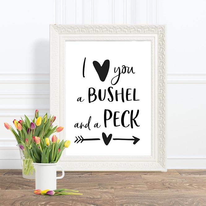 BUSHEL & A PECK PRINTABLE