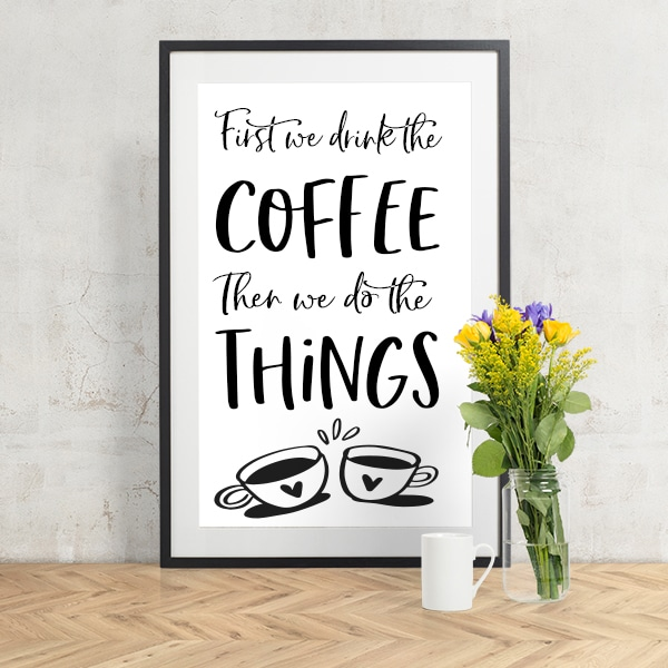 COFFEE WALL ART #2