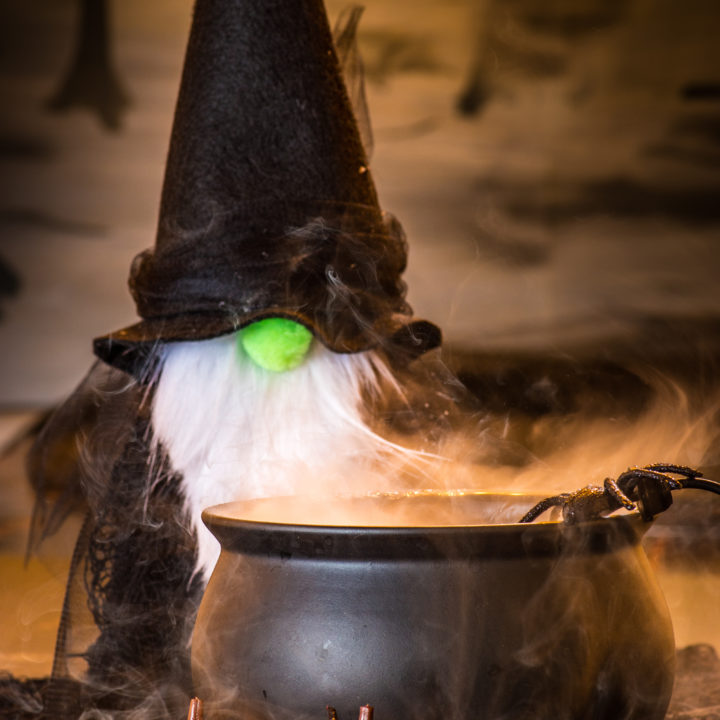 DIY Felt Gnome Witches - A Quick Halloween Craft Project
