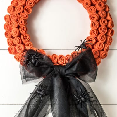 A Dollar Store DIY Halloween Wreath (Only $15.00!)