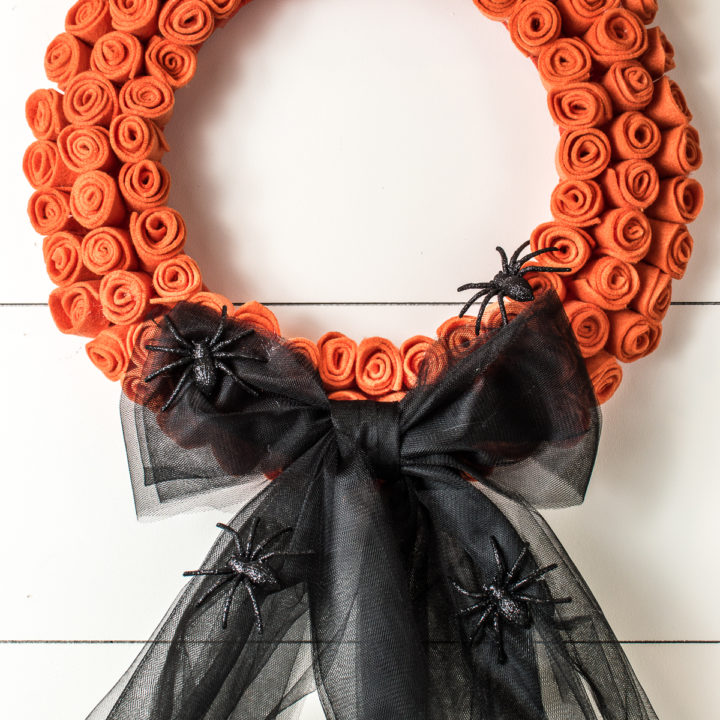 A Dollar Store DIY Halloween Wreath