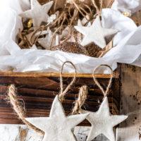 Make Pretty Air Dry Clay Ornaments - On The Cheap