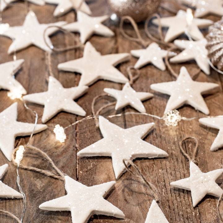 Make Pretty Air Dry Clay Ornaments - On The Cheap