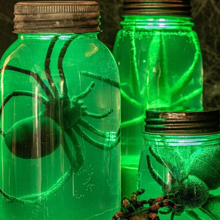 Glowing Halloween Specimen Jars