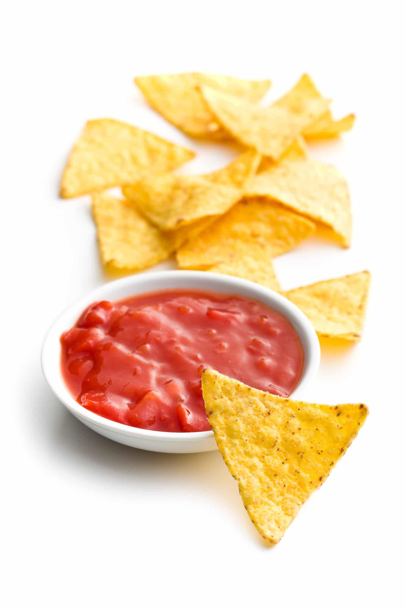 Tortilla chips and salsa.